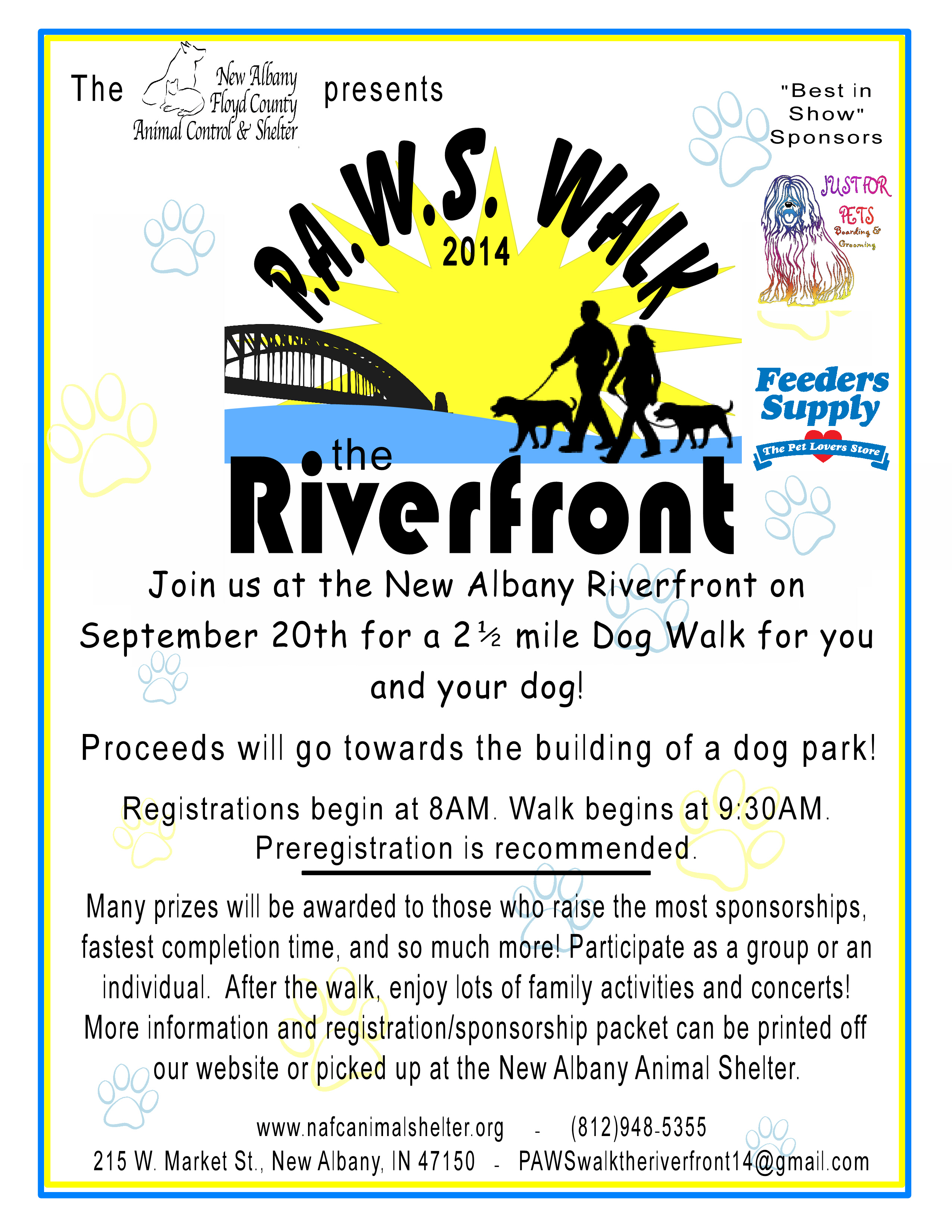 new albany floyd county animal shelter walking for a cause posted